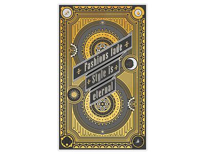 Card design card design maximalism gold retro