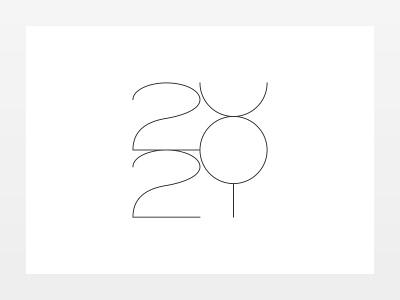 Almost there seasons greetings 2021 illustration black ink monochrome minimal