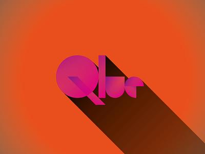 Qlue wordmark logo retro naming