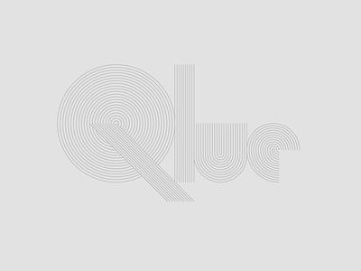 Mo[i]re Qlues thinlineseries stone garden wordmark retro logo naming