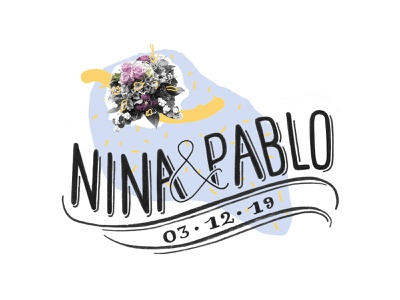 Nina y Pablo marriage matrimony marriage letter web typography animation illustration