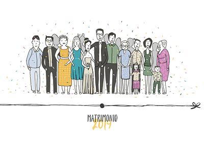 Nina y Pablo marriage web matrimony marriage illustration