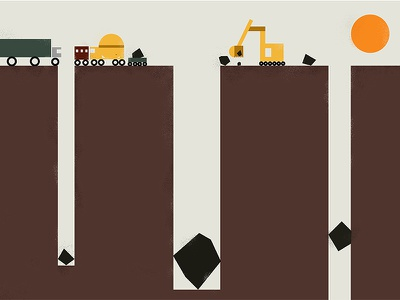 Dig geometric construction vehicles simple vector
