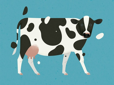 Dairy Cow geometric whimsical simple cow