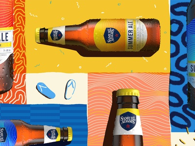 Bottles Sunbathing sunbath sunbathing beer pattern mat beach sun summer