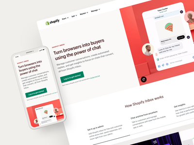 Shopify Inbox admin connell mccarthy marketing launch product animation design website branding inbox shopify