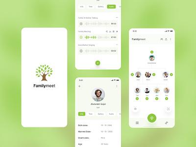 Familymeet - Family Tree App Concept product design typogaphy ux ui mobile app tree family family tree app family tree