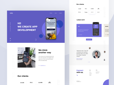 Osfy - App Development Company landing ux ui app development website firm protfolio company website agency development typography product design web design