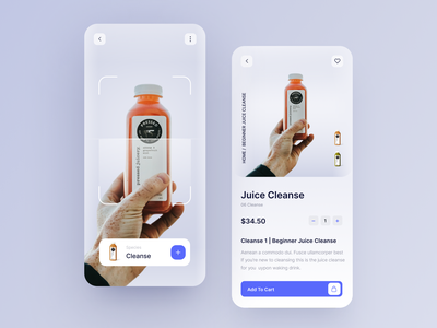 Products Search With AR Scan App mobile app typogaphy product design ux ui product scanner app scanner