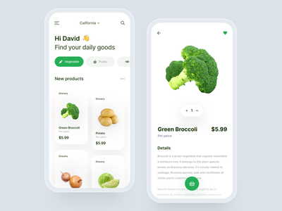 Grocery Shop Mobile App 🥦🥦🥦 mobile product design ux ui grocery delivery grocery store ecommerce app shopping app grocery grocery app
