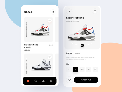 Shoes App app ux ui sneakers nike app air max shoes app shop app nike shoes ecommerce online shop store app mobile app inspiration cleaner app ui design fashion app add to cart product application