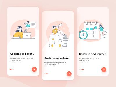 Online Learning Platform - Onboarding mobile product design app design mobile app illustration onboarding learning app online learning education app learning platform e learning