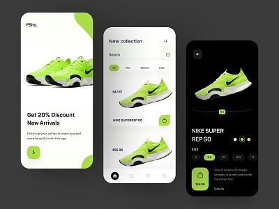 Shoes - App Design Concept app typogaphy ecommerce shop product design mobile app mobile nike air shoe running mobile ecommerce concept ui design shoes nike