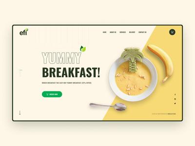 Food Order Landing Page landing clean webdesigner website typogaphy webdesign ux ui restaurant landing food landing restaurent food