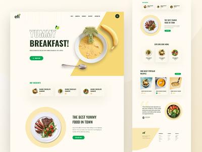Food Landing Page ux ui clean landingpage landing webdesigner website webdesign restaurantlandingpage restaurant foodlandingpage foodlanding food