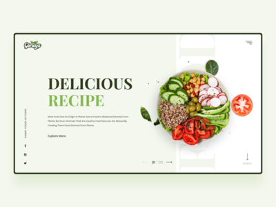 Food Landing Page Concept