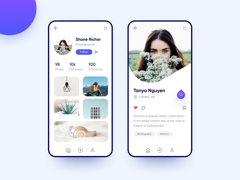 Profile iOS App clean interior profile image mobile typogaphy ux ui app iso profile