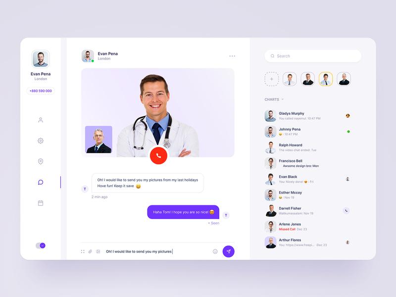 Doctor Chat doctor chat dashboard design dashboard ui clean webdesigner website ux ui typogaphy landingpage landing webdesign dashboad
