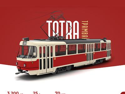 Tatra Tram eco-friendly transport card web design