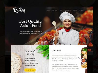 Rames - Restaurant Cafe Responsive HTML Template simple responsive cafe food restaurant modern theme template html ui design website design