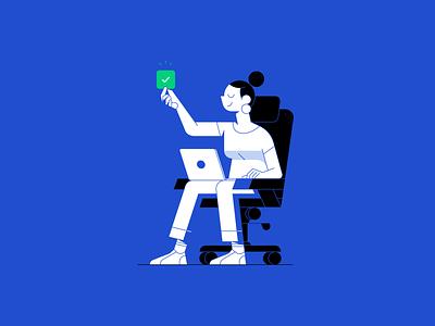 Character design outline flat illustrator icon character vector illustration