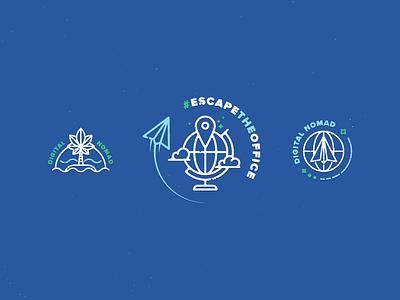 Digital Nomad Badges escapetheoffice logo badge toptal graczyk waldek nomad digital