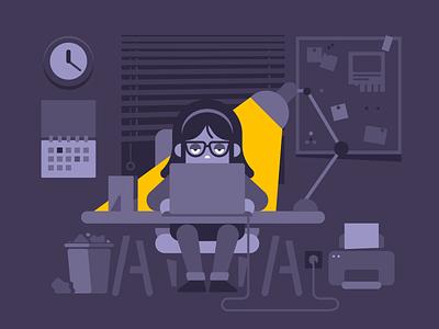 Office Work graczyk waldek office toptal illustration vector