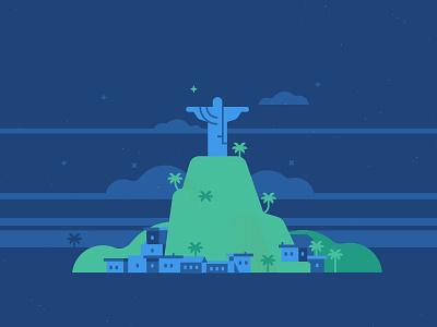 Rio toptal waldek vector flat digital travel town rio