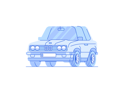 e30 blue exercise personal icon illustration vector car bmw