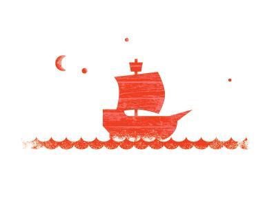 Valentines illustration vintage valentines boat sea