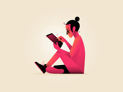Browsing ai waldek illustrator illustration pink vector character