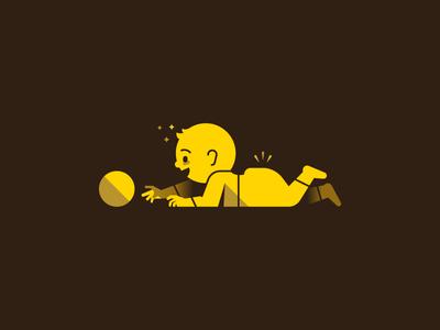 Crawling vector ai yellow baby toddler waldek illustration illustrator