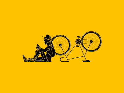 Resting vector ai yellow bike waldek illustration illustrator