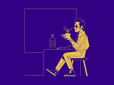 Drinking vector illustration illustrator character