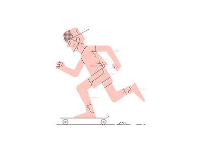 Skater skateboard illustrator illustration vector illustration vector character