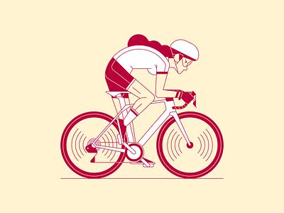 Cycling Girl illustration illustrator vector girl cycling bike