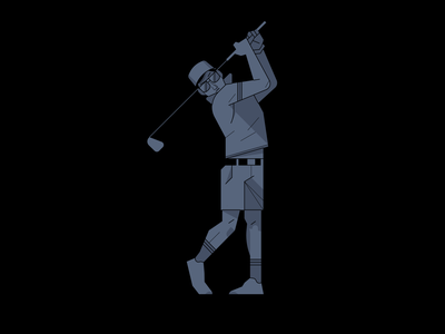 Golfing realistic geometric illustration vector club game golf sport
