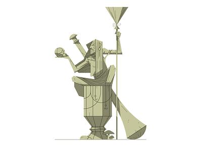 Baba Yaga characterdesign character illustrator vector horror spooky creepy halloween witch