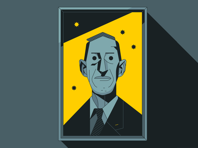 H.P. Lovecraft personal characterdesign lovecraft cthulhu monster space outline illustrator character vector illustration