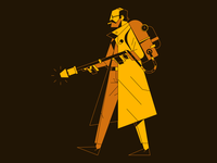 Man with Flamethrower