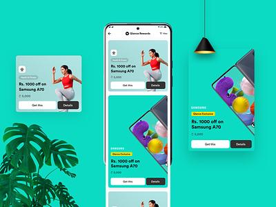 Reward cards card design card ui card offercard offer reward card reward app design adobexd uiuxdesign uxdesign dribble uidesign ux uiux design ui uiux dailyui