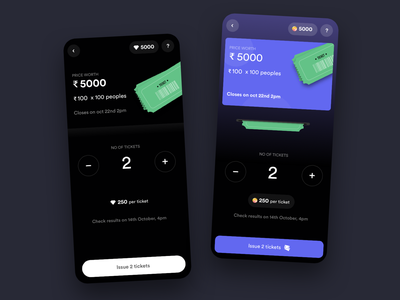 raffles reward lottery dark dark ui raffle app design design uiuxdesign uxdesign uidesign ux uiux design uiux ui dailyui