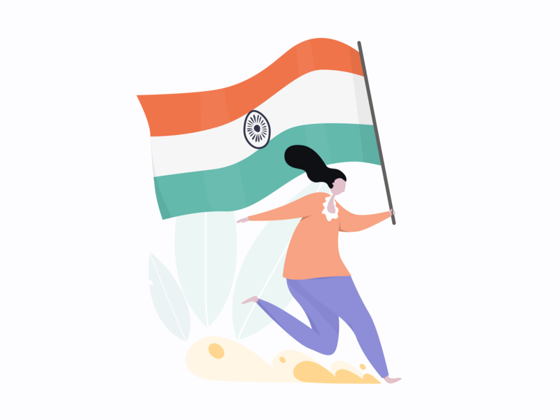 Happy Independence Day 🇮🇳 ux uiuxdesign dailyui vector uidesign uxdesign design art dribble uiux design ui design ui  ux freedom india independence day drawing ui uiux independence illustration