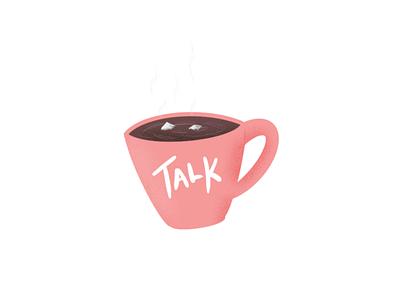 coffee talks. ☕ coffeelover coffeetalk art drawing uxdesign uidesign ux uiux design ui uiux illustration dailyui talk coffee