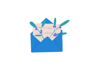 Newsletter 💌 drawing uxdesign uidesign ux uiux design uiux ui dailyui art illustraion leaves nature letter newsletter