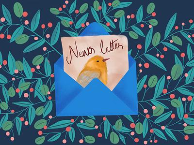 Newsletter nature letter newsletter birds leaves art uxdesign uidesign drawing ux illustration uiux design uiux ui dailyui