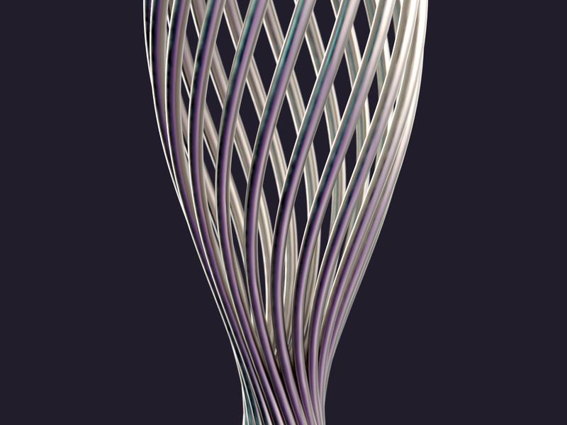 twist 3dmodeling minimal art parametric designer rhinoceros keyshot rendering modeling product design 3d