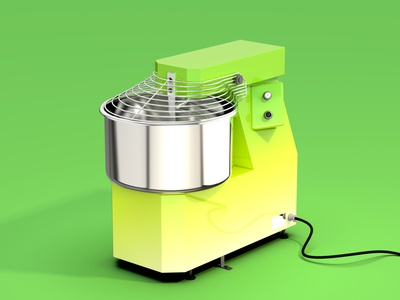 spiral mixer pizza keyshot9 rhino3d kitchen industrialdesigner industrialdesign 3dmodeling rhinoceros keyshot product modeling rendering 3d