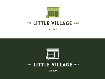The Little Village Shop Branding graphic design logo design design british icon illustration green ecommerce shop branding logo
