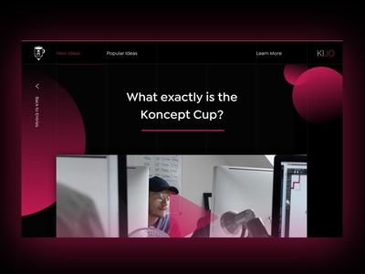 Koncept Cup Visuals design responsive software app modern bold logo branding web graphic design web design